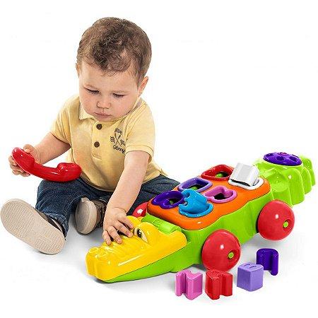 Brinquedo Educativo Jacare C/telef. Letras/numeros Tateti