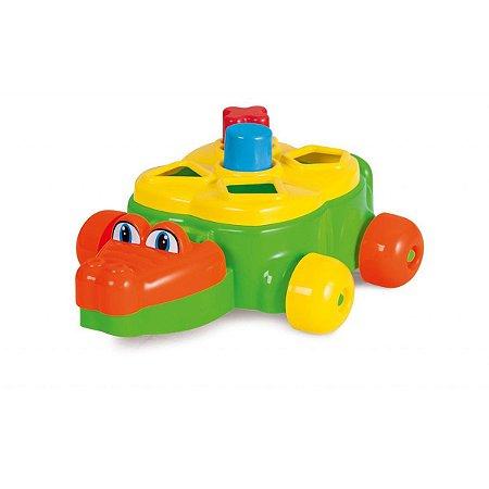 Brinquedo Educativo Jacare Junior C/blocos E Puxad Tateti