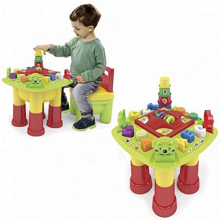 Brinquedo Educativo Mesinha De Atividades 21Pecas Dismat
