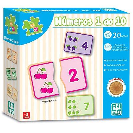 Brinquedo Educativo Numeros 0 A 10 Nig Brinquedos