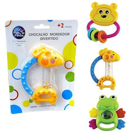 Brinquedo Para Bebê Chocalho Mordedor Sortido Pais E Filhos