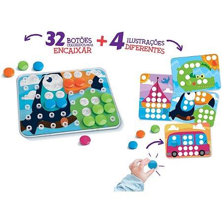 Brinquedo Para Bebê Encaixe Cor Elka