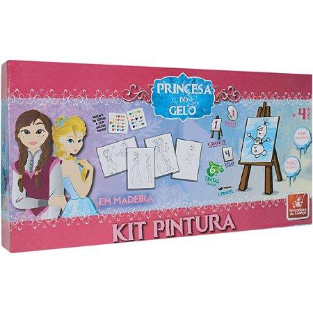 Brinquedo Para Colorir Princesa Do Gelo C/04 Telas Brinc. De Crianca