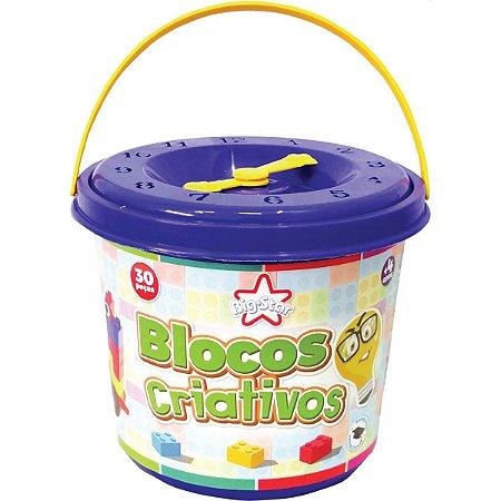 Brinquedo Para Montar Blocos Criativos 30Pcs/adesivo Big Star