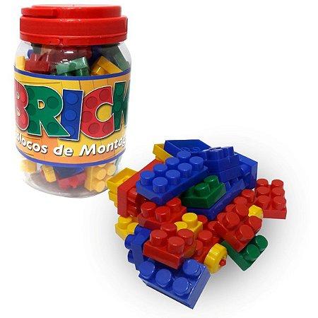 Brinquedo Para Montar Bricks Blocos Montagem 56Pecas Pais E Filhos