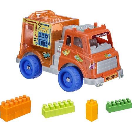 Brinquedo Para Montar Caminhão C/blocos 15Pcs Gulliver