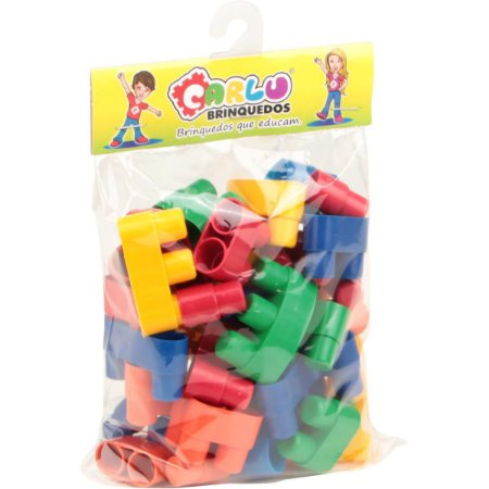Brinquedo Para Montar Conectando Formas 40Pecas Plas Carlu