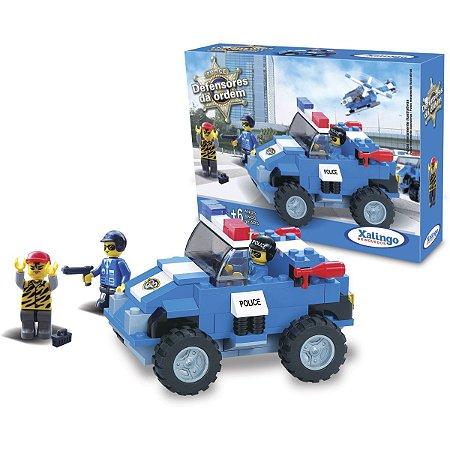 Brinquedo Para Montar Defensores Ordem Policia 119Pc Xalingo
