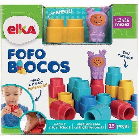 Brinquedo Para Montar Fofo Blocos 25 Pecas Elka