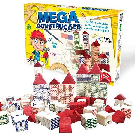 Brinquedo Para Montar Mega Construcoes 150 Pecas Pais E Filhos