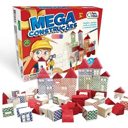 Brinquedo Para Montar Mega Construções 45 Pecas Pais E Filhos