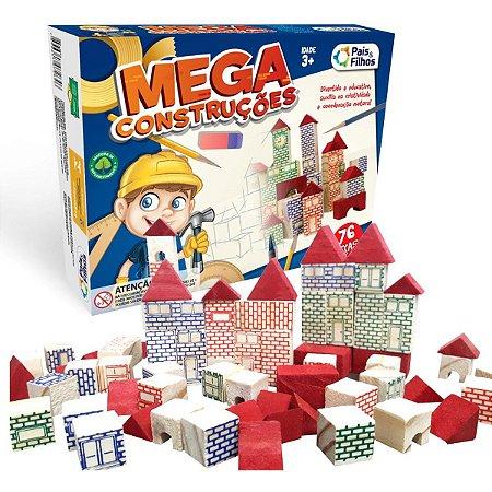 Brinquedo Para Montar Mega Construcoes 76 Pecas Pais E Filhos