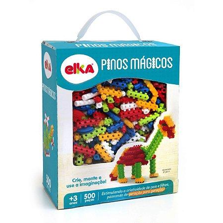 Brinquedo Para Montar Pinos Magicos 500 Pecas Elka