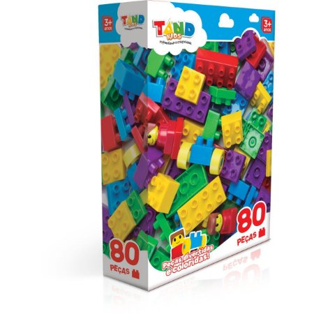 Brinquedo Para Montar Tand Kids 80 Pecas Toyster