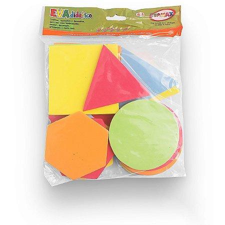 Brinquedo Pedagógico Eva Formas Geometrica 10Cm 5Mm 20P Evamax