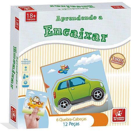 Brinquedo Pedagógico Madeira Aprendendo A Encaixar 12Pcs. Brinc. De Crianca