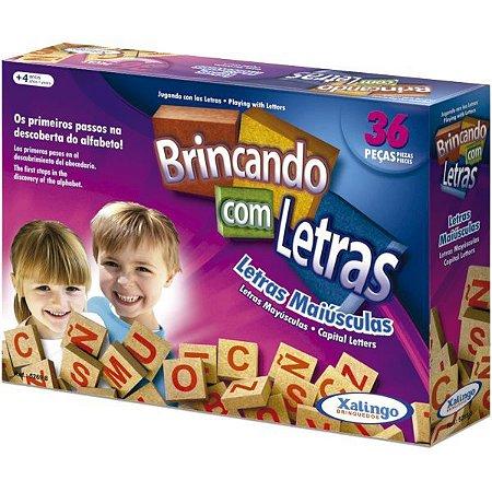 Brinquedo Pedagógico Madeira Brincando Com As Letras 36Pcs. Xalingo
