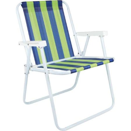 Cadeira P/piscina/praia Alta De Aço 53X54X72 Sortida Mor