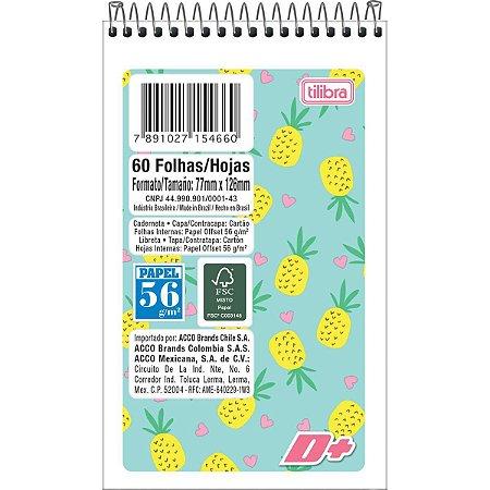 Caderneta Apontamento 1/16 Espiral D+ Capa Flexivel 64F Tilibra