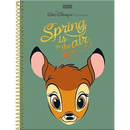 Caderno 01X1 Capa Dura 2021 Disney.classics 96Fls. Foroni