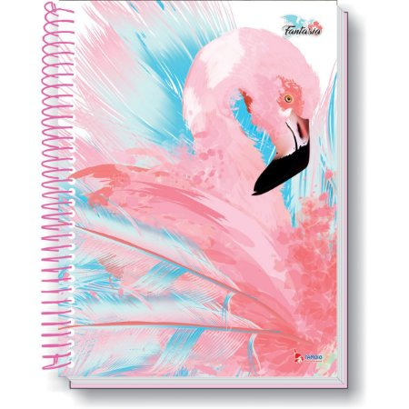 Caderno 01X1 Capa Dura 2021 Flamingo 96F Tamoio