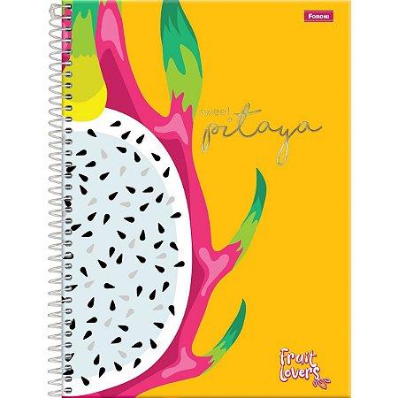Caderno 01X1 Capa Dura 2021 Fruit Lovers 96Fls. Foroni