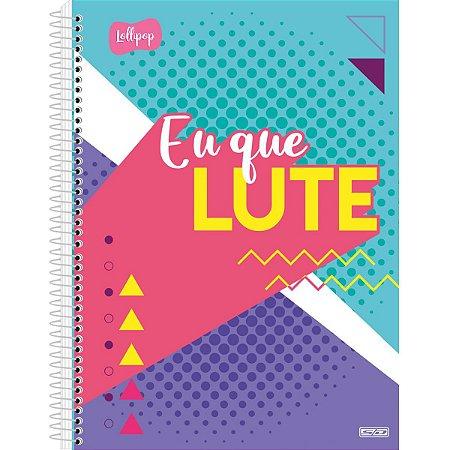 Caderno 01X1 Capa Dura 2021 Lollipop 80F São Domingos