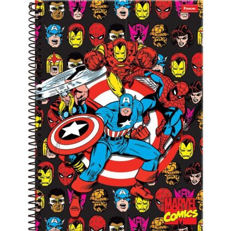 Caderno 01X1 Capa Dura 2021 Marvel Comics 80Fls. Foroni
