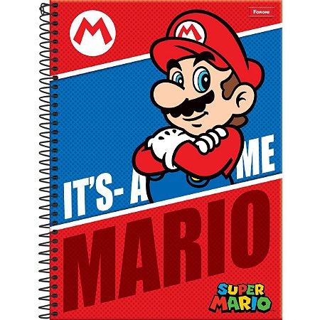 Caderno 01X1 Capa Dura 2021 Super Mario Bros 96Fls. Foroni