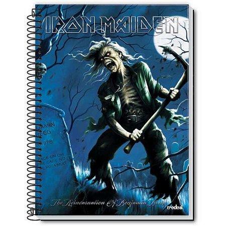 Caderno 01X1 Capa Dura Iron Maiden 96 Folhas Credeal