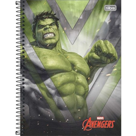 Caderno 10X1 Capa Dura 2021 Avengers Assemble 160Fls. Tilibra