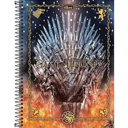 Caderno 10X1 Capa Dura 2021 Game Of Thrones 160Fls. Tilibra