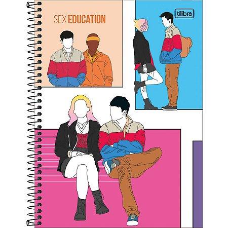 Caderno 10X1 Capa Dura 2021 Sex Education 160Fls. Tilibra