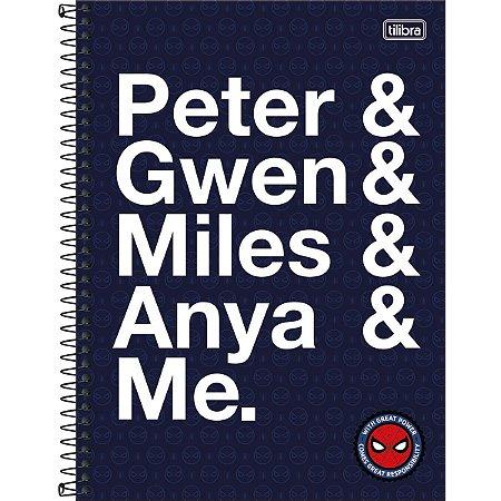 Caderno 10X1 Capa Dura 2021 Spider-Man Ligth 160Fls. Tilibra