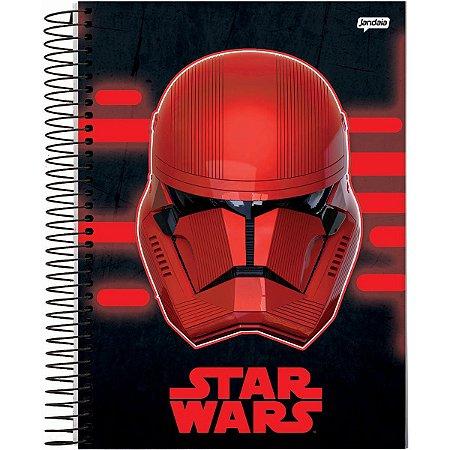 Caderno 10X1 Capa Dura 2021 Star Wars 160Fls Jandaia