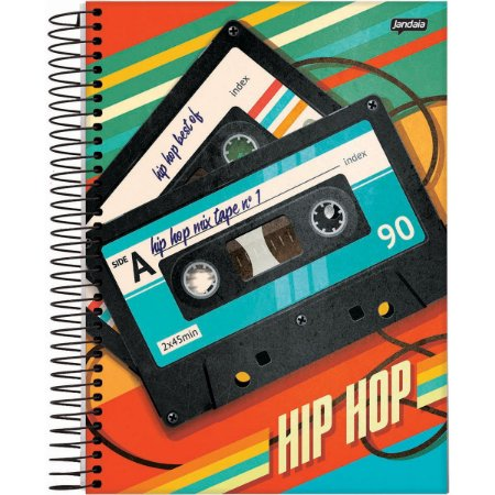 Caderno 12X1 Capa Dura 2020 Hip Hop 240 Folhas Jandaia
