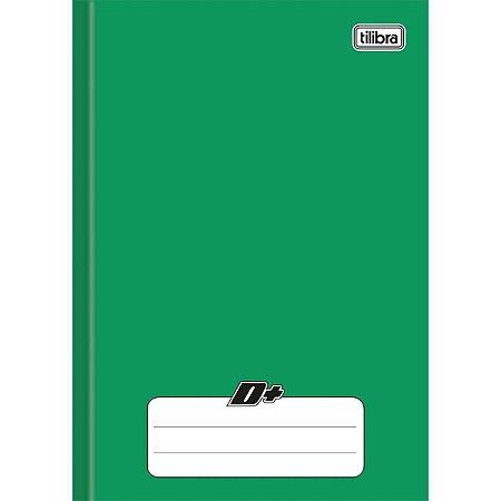 Caderno Brochura 1/4 Capa Dura D+ 48 Folhas Verde Tilibra