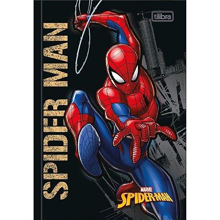 Caderno Brochura 1/4 Capa Dura Spider-Man 80Fls. Tilibra