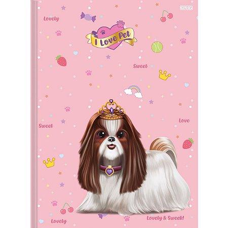 Caderno Brochurao Capa Dura I Love Pets 48F São Domingos