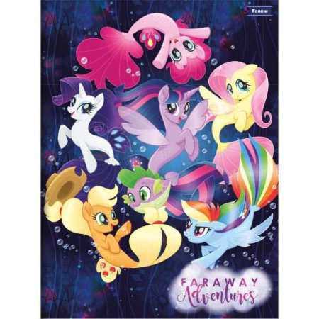 Caderno Brochurao Capa Dura My Little Pony 96Fls. Foroni