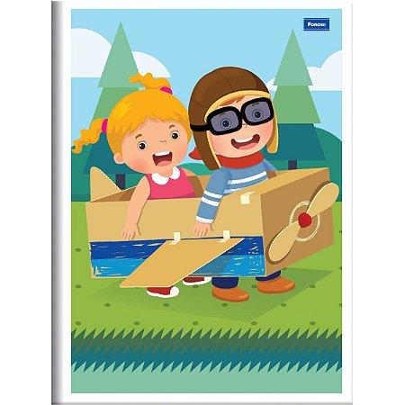 Caderno Brochurao Capa Infantil 96 Folhas Foroni