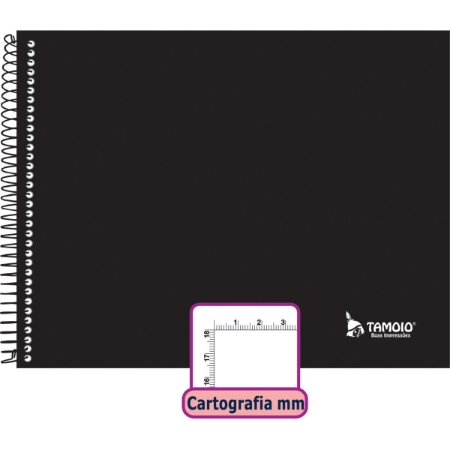 Caderno Desenho Milimetrado Liso 48F Univ Esp Capa Dura Tamoio