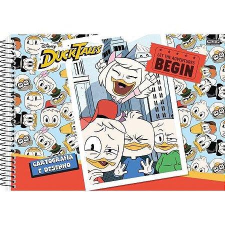 Caderno Desenho Univ Capa Dura Duck Tales 60F Espiral São Domingos