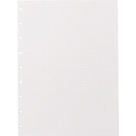 Caderno Inteligente Refil Medio Pontilhado 120G. 30Fls. Caderno Inteligente