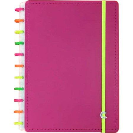 Caderno Inteligente Grande Neon Vibes Ed.lim 80F Caderno Inteligente