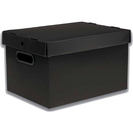 Caixa Organizadora Prontobox Preto 310X230X190 Pq Polycart