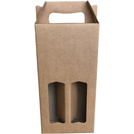 Caixa Para Presente P/garrafa Kraft Dup. 8X17X38Cm Cristina