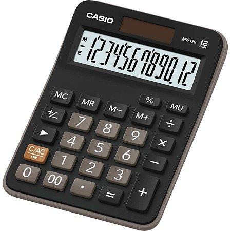 Calculadora De Mesa 12Dig. Preta Bat/solar Casio