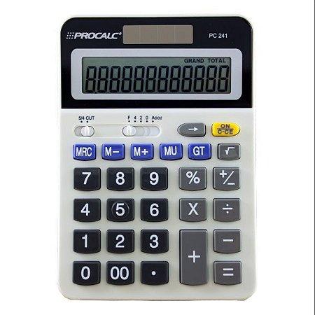 Calculadora De Mesa 12Digitos Mod.pc241 Bat/solar Procalc
