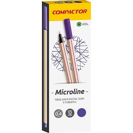 Caneta Com Ponta Porosa Microline 0,4Mm Violeta Compactor